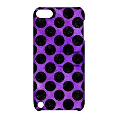 Circles2 Black Marble & Purple Watercolor Apple Ipod Touch 5 Hardshell Case With Stand by trendistuff
