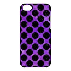 Circles2 Black Marble & Purple Watercolor Apple Iphone 5c Hardshell Case by trendistuff