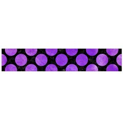 Circles2 Black Marble & Purple Watercolor (r) Flano Scarf (large) by trendistuff