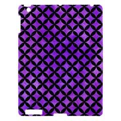 Circles3 Black Marble & Purple Watercolor Apple Ipad 3/4 Hardshell Case by trendistuff
