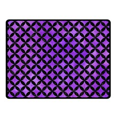 Circles3 Black Marble & Purple Watercolor Double Sided Fleece Blanket (small)  by trendistuff