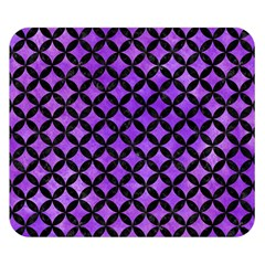 Circles3 Black Marble & Purple Watercolor Double Sided Flano Blanket (small)  by trendistuff