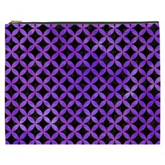 Circles3 Black Marble & Purple Watercolor (r) Cosmetic Bag (xxxl)  by trendistuff