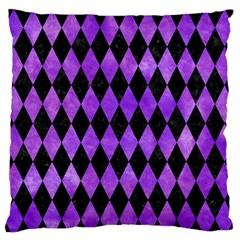 Diamond1 Black Marble & Purple Watercolor Standard Flano Cushion Case (one Side) by trendistuff