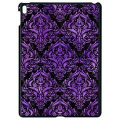Damask1 Black Marble & Purple Watercolor (r) Apple Ipad Pro 9 7   Black Seamless Case by trendistuff