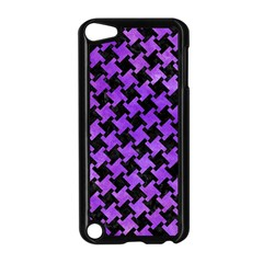 Houndstooth2 Black Marble & Purple Watercolor Apple Ipod Touch 5 Case (black) by trendistuff