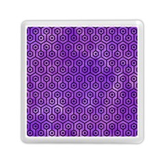 Hexagon1 Black Marble & Purple Watercolor Memory Card Reader (square)  by trendistuff