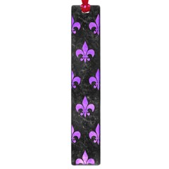 Royal1 Black Marble & Purple Watercolor Large Book Marks by trendistuff