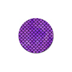 Scales1 Black Marble & Purple Watercolor Golf Ball Marker by trendistuff