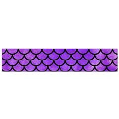 Scales1 Black Marble & Purple Watercolor Flano Scarf (small) by trendistuff