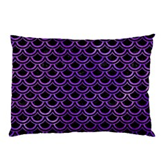 Scales2 Black Marble & Purple Watercolor (r) Pillow Case by trendistuff