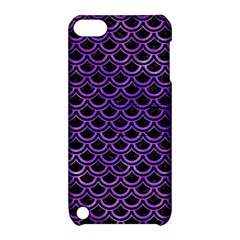 Scales2 Black Marble & Purple Watercolor (r) Apple Ipod Touch 5 Hardshell Case With Stand by trendistuff