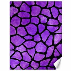 Skin1 Black Marble & Purple Watercolor (r) Canvas 36  X 48   by trendistuff