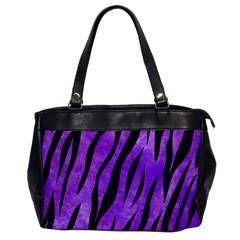 Skin3 Black Marble & Purple Watercolor Office Handbags by trendistuff