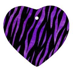 Skin3 Black Marble & Purple Watercolor (r) Ornament (heart) by trendistuff