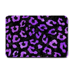 Skin5 Black Marble & Purple Watercolor Small Doormat  by trendistuff
