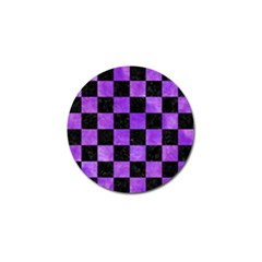 Square1 Black Marble & Purple Watercolor Golf Ball Marker (4 Pack) by trendistuff