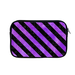 Stripes3 Black Marble & Purple Watercolor Apple Macbook Pro 13  Zipper Case by trendistuff