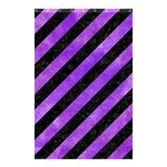 Stripes3 Black Marble & Purple Watercolor (r) Shower Curtain 48  X 72  (small)  by trendistuff