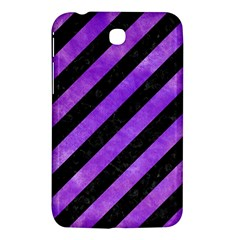 Stripes3 Black Marble & Purple Watercolor (r) Samsung Galaxy Tab 3 (7 ) P3200 Hardshell Case  by trendistuff