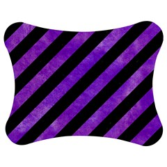 Stripes3 Black Marble & Purple Watercolor (r) Jigsaw Puzzle Photo Stand (bow) by trendistuff