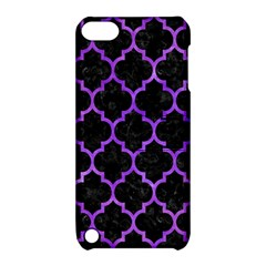 Tile1 Black Marble & Purple Watercolor (r) Apple Ipod Touch 5 Hardshell Case With Stand by trendistuff