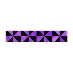 Triangle1 Black Marble & Purple Watercolor Flano Scarf (mini) by trendistuff