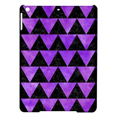 Triangle2 Black Marble & Purple Watercolor Ipad Air Hardshell Cases by trendistuff