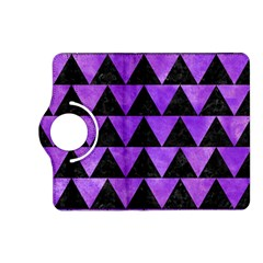 Triangle2 Black Marble & Purple Watercolor Kindle Fire Hd (2013) Flip 360 Case by trendistuff