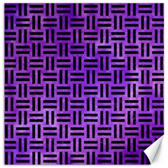 Woven1 Black Marble & Purple Watercolor Canvas 20  X 20   by trendistuff