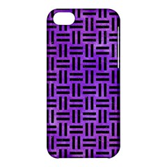 Woven1 Black Marble & Purple Watercolor Apple Iphone 5c Hardshell Case by trendistuff