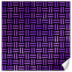 Woven1 Black Marble & Purple Watercolor (r) Canvas 12  X 12   by trendistuff