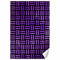 Woven1 Black Marble & Purple Watercolor (r) Canvas 20  X 30   by trendistuff