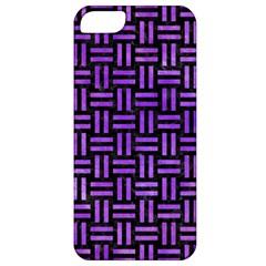 Woven1 Black Marble & Purple Watercolor (r) Apple Iphone 5 Classic Hardshell Case by trendistuff