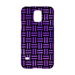 Woven1 Black Marble & Purple Watercolor (r) Samsung Galaxy S5 Hardshell Case  by trendistuff