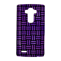 Woven1 Black Marble & Purple Watercolor (r) Lg G4 Hardshell Case by trendistuff