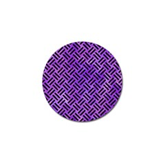 Woven2 Black Marble & Purple Watercolor Golf Ball Marker (4 Pack) by trendistuff
