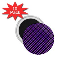 Woven2 Black Marble & Purple Watercolor (r) 1 75  Magnets (10 Pack)  by trendistuff
