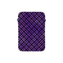Woven2 Black Marble & Purple Watercolor (r) Apple Ipad Mini Protective Soft Cases by trendistuff