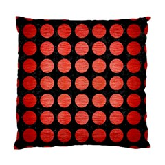 Circles1 Black Marble & Red Brushed Metal (r) Standard Cushion Case (two Sides) by trendistuff
