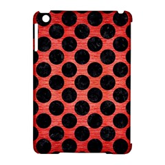 Circles2 Black Marble & Red Brushed Metal Apple Ipad Mini Hardshell Case (compatible With Smart Cover) by trendistuff