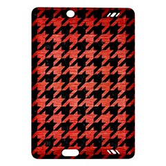 Houndstooth1 Black Marble & Red Brushed Metal Amazon Kindle Fire Hd (2013) Hardshell Case by trendistuff