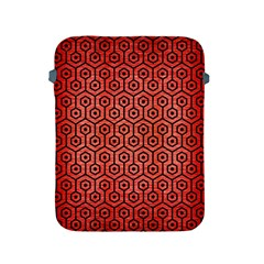 Hexagon1 Black Marble & Red Brushed Metal Apple Ipad 2/3/4 Protective Soft Cases by trendistuff