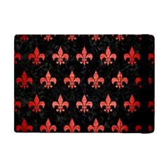 Royal1 Black Marble & Red Brushed Metal Apple Ipad Mini Flip Case by trendistuff