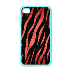 Skin3 Black Marble & Red Brushed Metal (r) Apple Iphone 4 Case (color) by trendistuff