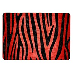 Skin4 Black Marble & Red Brushed Metal (r) Samsung Galaxy Tab 8 9  P7300 Flip Case by trendistuff