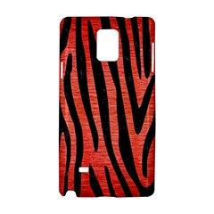 Skin4 Black Marble & Red Brushed Metal (r) Samsung Galaxy Note 4 Hardshell Case by trendistuff
