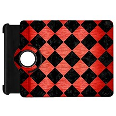 Square2 Black Marble & Red Brushed Metal Kindle Fire Hd 7  by trendistuff