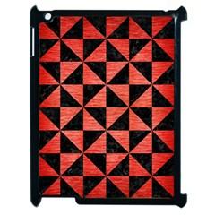 Triangle1 Black Marble & Red Brushed Metal Apple Ipad 2 Case (black) by trendistuff