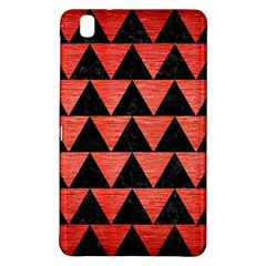 Triangle2 Black Marble & Red Brushed Metal Samsung Galaxy Tab Pro 8 4 Hardshell Case by trendistuff